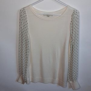 Loft sheer sleeve knit sweater. Sz.m